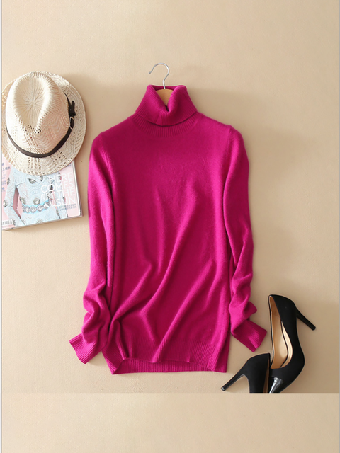 Turtleneck Casual Wool Blend Sweaters