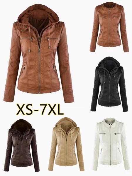 Hoodie Solid Long Sleeve Pockets Zipper Winter Plus Size Jacket