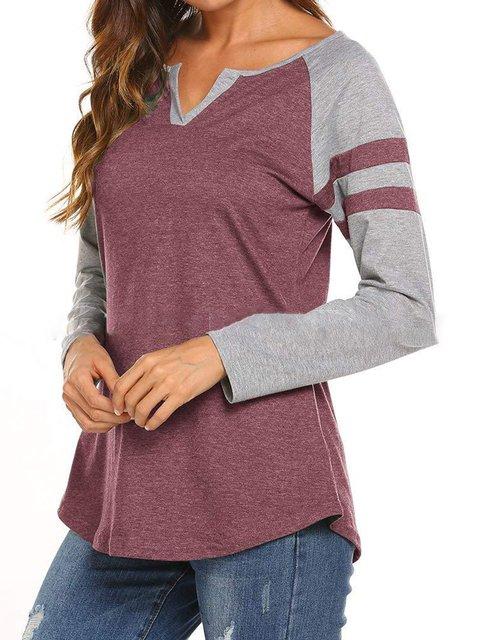 S-2XL Simple & Basic Color-Block Stripes 2018 Base Prime T-Shirts