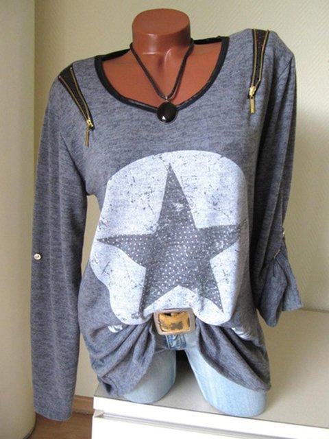 6 Colors S-5XL Zipper Simple & Basic Geometric Pullover Jumper T-Shirts