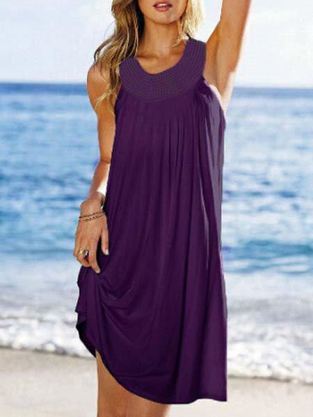 Women Date Sleeveless Elegant  Summer Dress