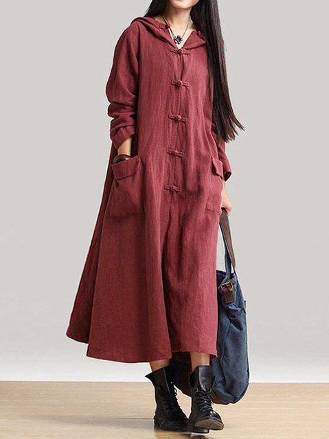 Cotton Long Sleeve Casual Dress