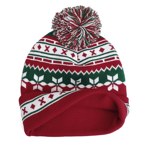 938e0619792e1 Winter Christmas Knitted Santa Claus Hat Soft Snowflake Beanie Hat Halloween  Gift