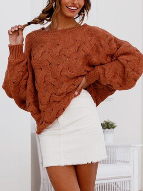 One Shoulder Elegant Sweaters