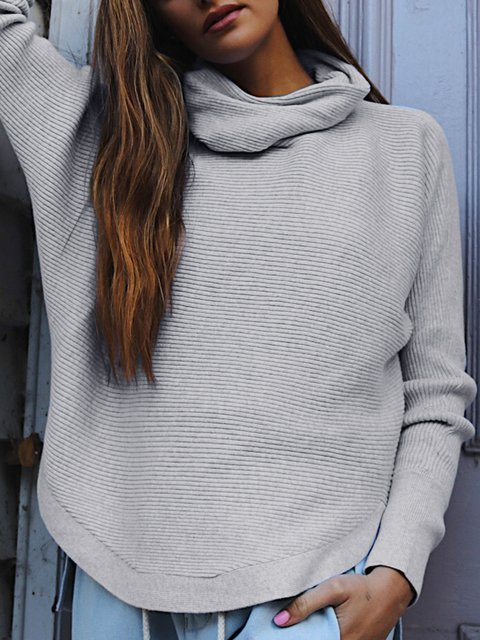Long Sleeve Vintage Turtle Neck Sweaters