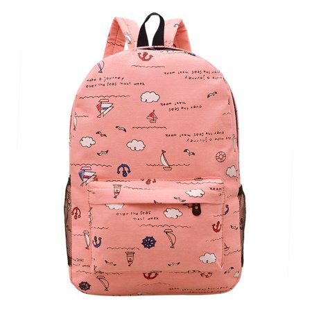 Women's Animal Printed Cute Casual Canvas Backpacks