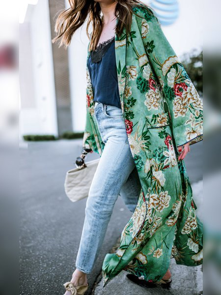 2019 Spring Fashion Floral Print Cardigans