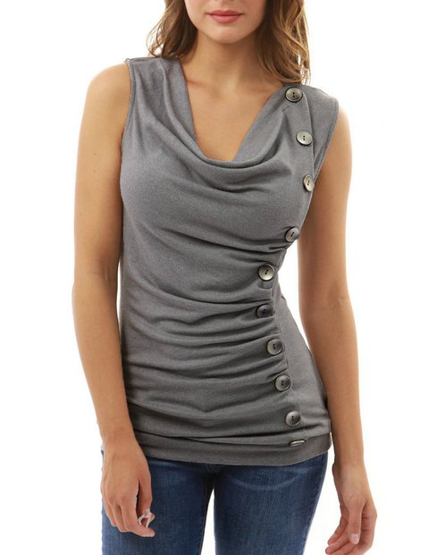 Sleeveless Casual V Neck Cotton Tanks