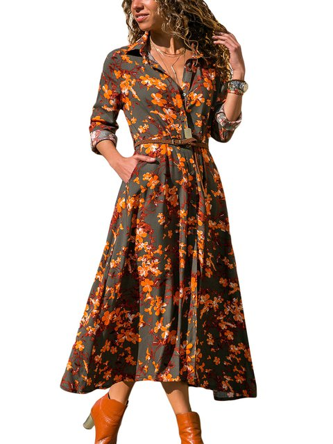 Sweet Appliqued Long Sleeve Dresses