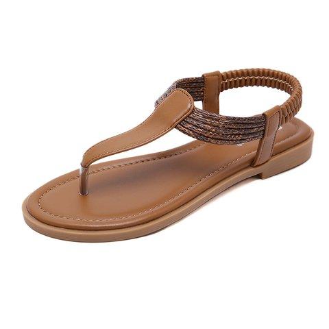 Women Elastic Band Summer Flip-Flops Sandals