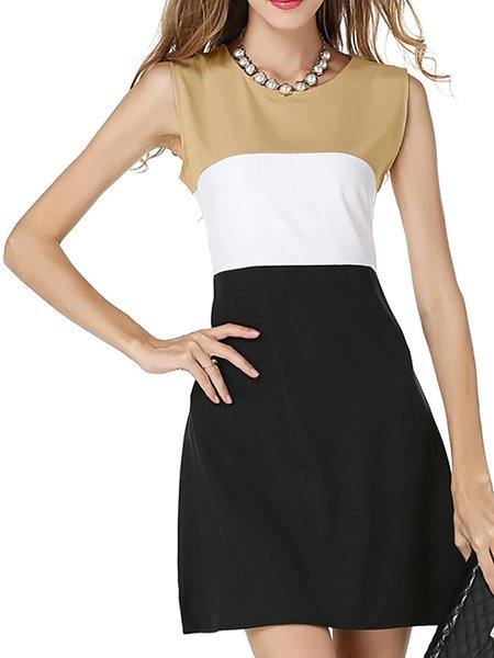 Apricot A-line Women Daytime Elegant Long Sleeve Cotton-blend  Elegant Dress