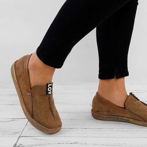 Suede Slip-On Women's Loafers