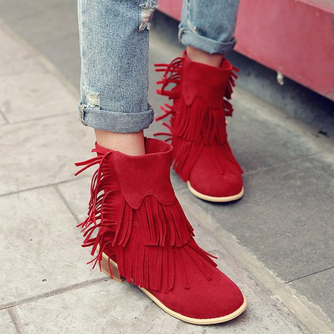50521331a92 JustFashionNow Women s Boots Red Boots