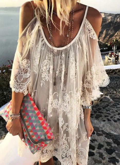 Off Shoulder White Women Summer Dresses Dresses