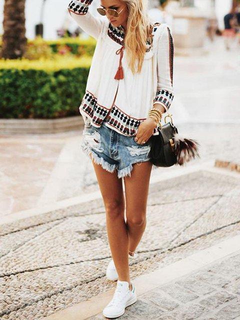 Fashion Chiffon Printed Blouses