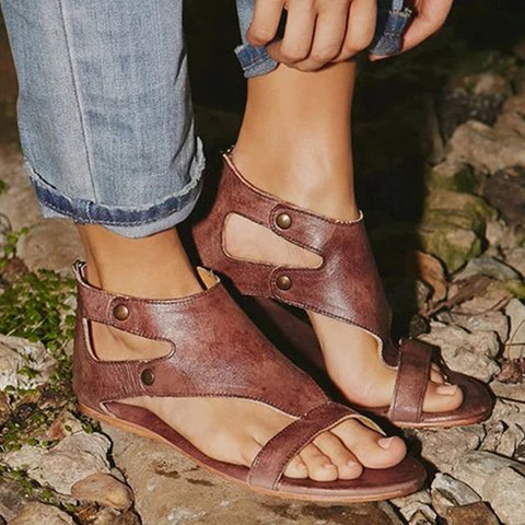 Womens Sandals Flat Gladiator Thong Casual Summer Sandals
