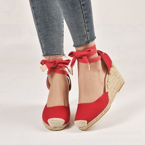 Women's Casual Round Toe Wedge Heel Shoes