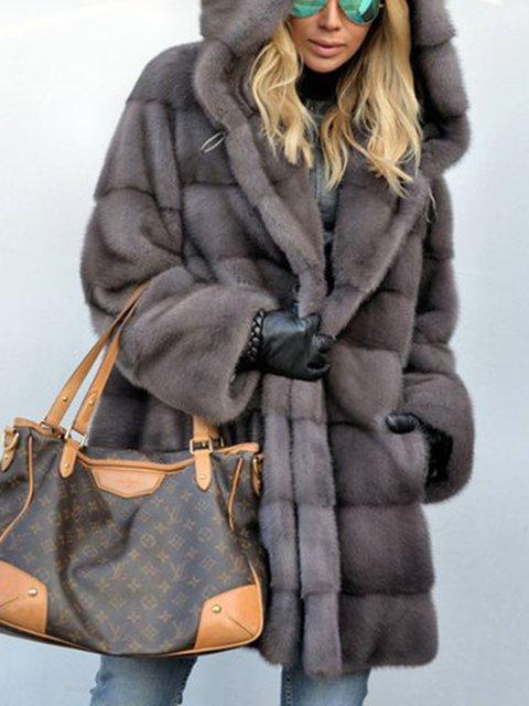 91fb64adf Royal Mink Furs Coat Vintage Pockets Hoodie Faux Fur Coats -  JustFashionNow.com