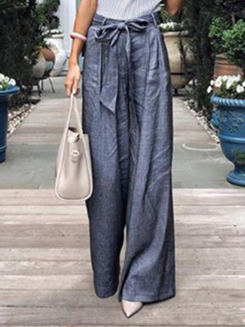 Plus Size Elegant Pockets Lady's Loose Pants