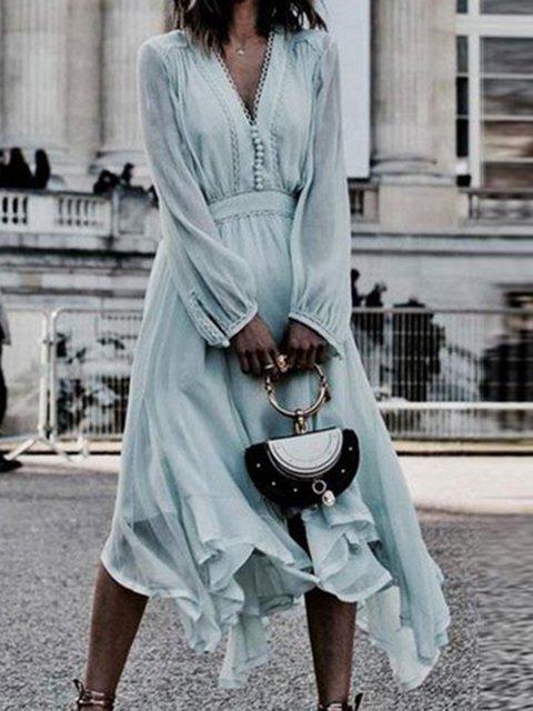 Light blue  Women  Spring Dress