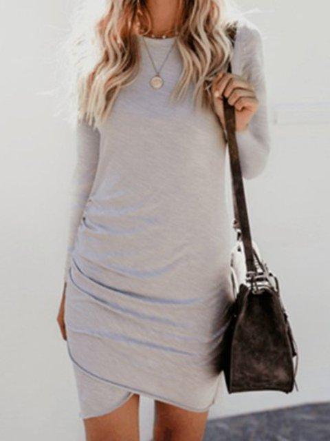 Sheath Women Daily Casual Long Sleeve  Spring Dress