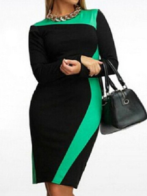 Women Daily Long Sleeve Casual  Casual Dress