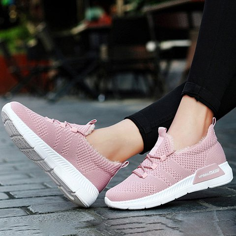 Comfy Plush Warm Lining Athletic Sneakers