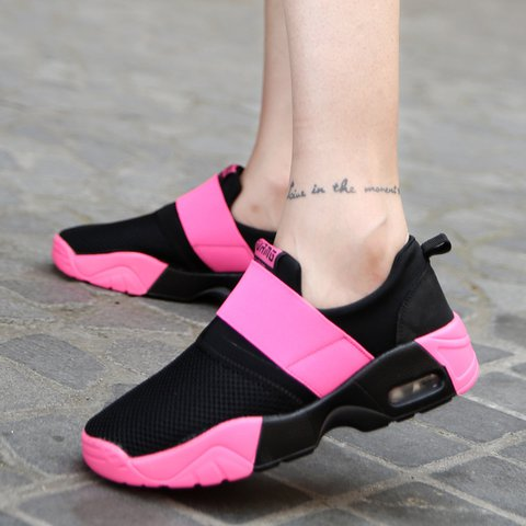 Flat Heel Casual Color Block Sneakers Running Shoes