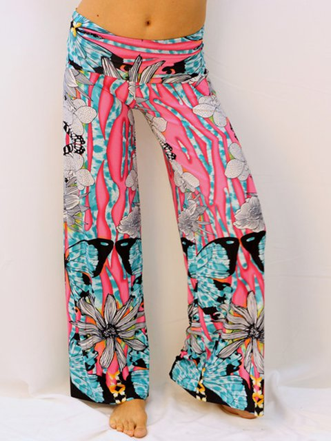 Floral Casual Wide Leg Pants