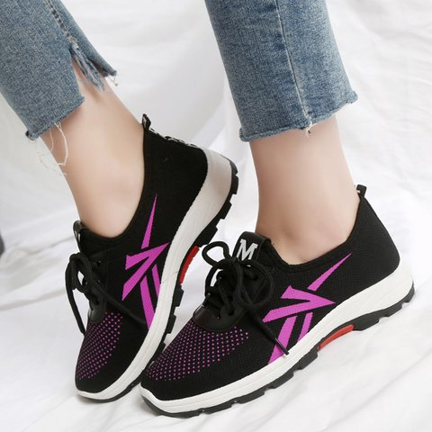 Women Sport Sneakers Running Lace Up Shoes