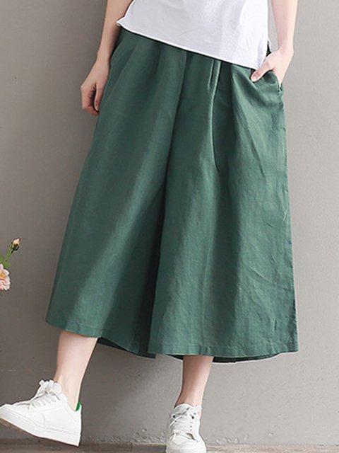 Daily Women's Basic Soild Color Loose Soft Pants