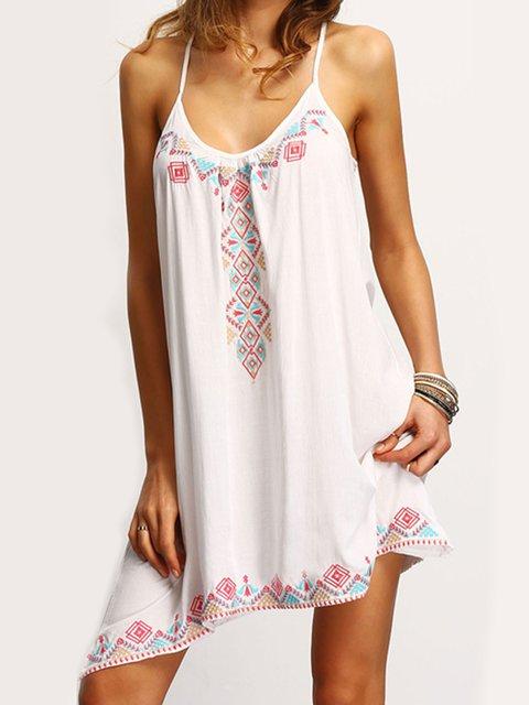 Women Asymmetrical Boho Printed Dresses