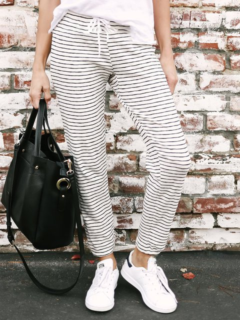 Daily Cotton Casual Soft Pants Waist In Stretchy