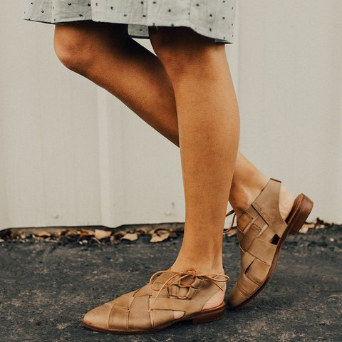 Khaki Daily Flat Heel Sandals