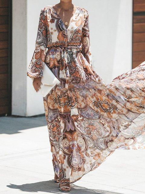 Vintage Printed Maxi Dresses