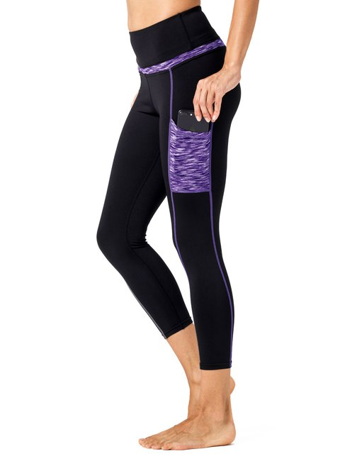 Yoga Pants With Side Pockets Workout Running Sports