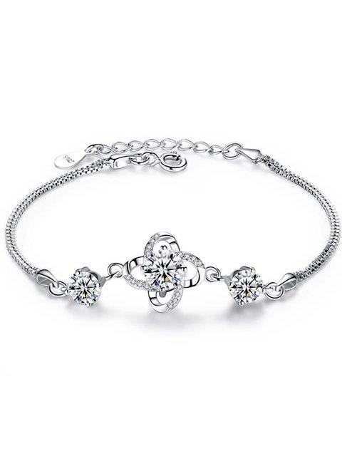 925 Silver Lucky Four-leaf  Clover Bracelet