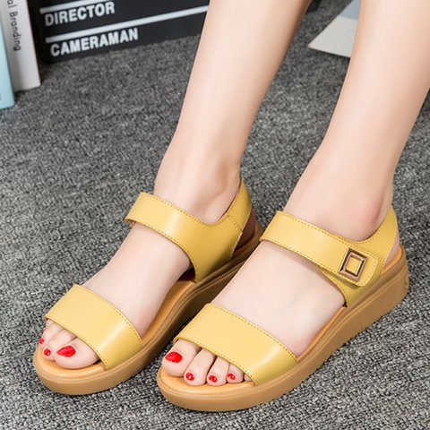 Women's Open Toe Magic Tape Summer Sandals