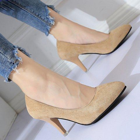 Women's Suede All Season Elegant Pointed Toe Heels