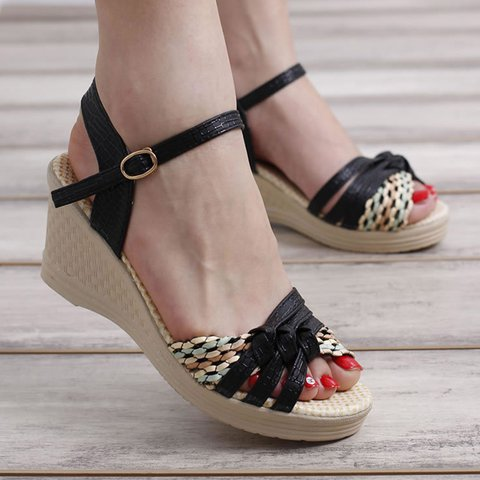 Womens Wedge Heel Summer Daily Sandals