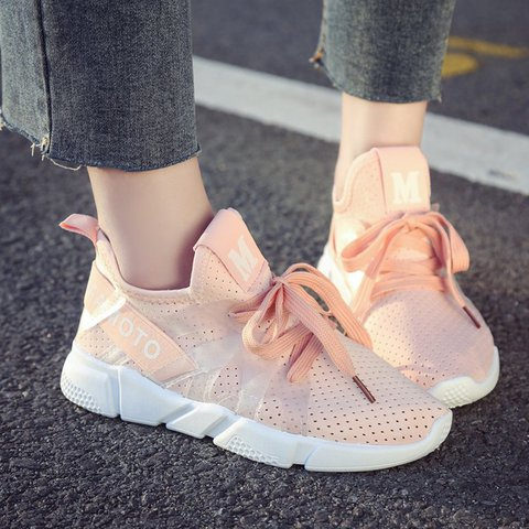 Womens Casual Summer Lace-Up Casual Sneakers