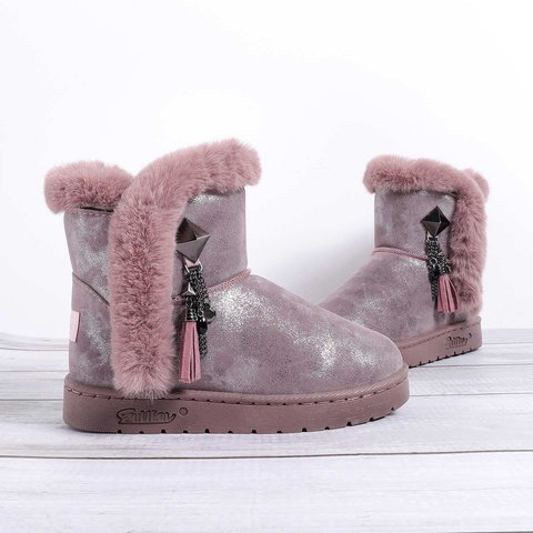Women's Suede Low Heel Daily Tassel Snow Boots