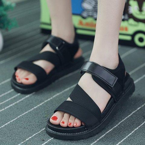 Fashion Magic Tape Elastic Band Sandals