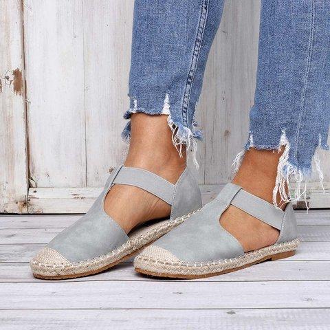62115ff5efb Summer Comfy Espadrilles Sandals Pu Slip On Sandals