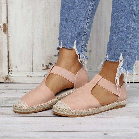 Summer Comfy Espadrilles Sandals Pu Slip On Sandals