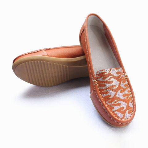 Women's Shoes Casual Round Toe Floral Print Flats