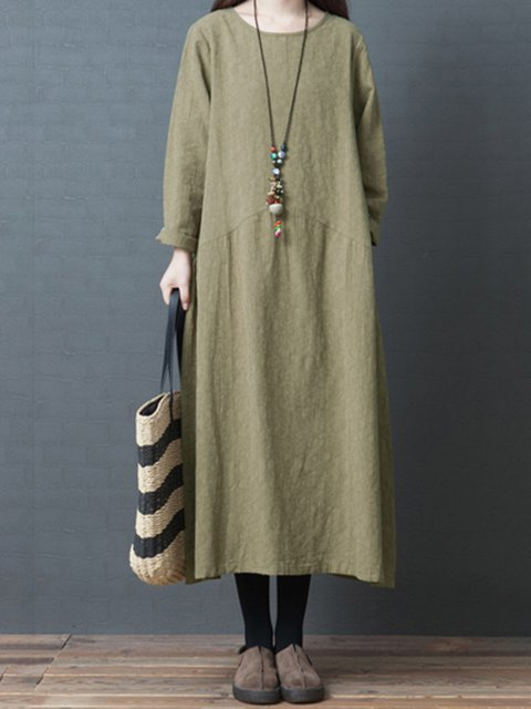 Women Casual Dresses Shift Casual Linen Dresses