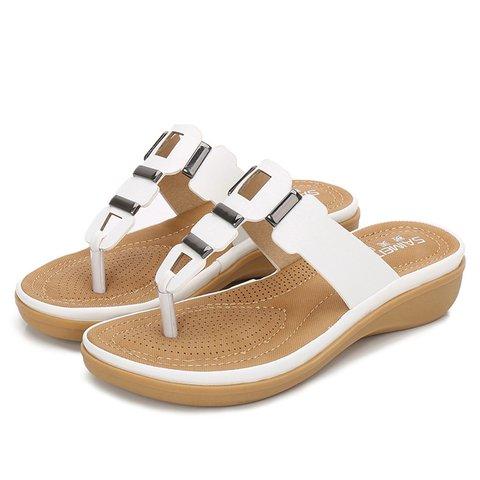 Comfort Flip-flops Flat Casual PU Slippers