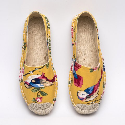 Women's Animal Print All Season Flat Heel Canvas Loafers