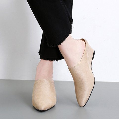 Women's New Pointed Toe Wedge Slippers